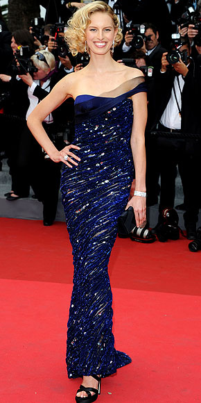 Vestido longo paete azul royal