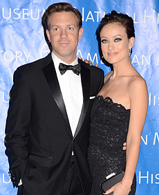 USA/CA/AUS/NZ ONLY Olivia Wilde and Jason Sudeikis attend the 2012 American Museum of Natural History Gala